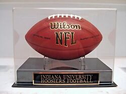 Indiana Hoosiers Football Display Case With An Engraved Nameplate For Your Ball
