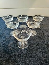 Set Of 6 Waterford Lismore Champagne / Sherbet Glasses - Immaculate And Free Ship