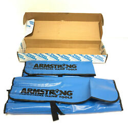 Armstrong 27-708 17pc, 12pt Full Polish Geared Box Wrench Set, Sae And Metric