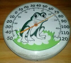 Vtg. Original Jumbo Dial Frog Thermometer The Ohio Thermometer Co - U.s. Made