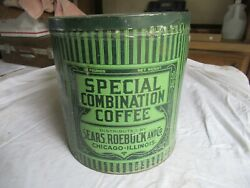 Vintage Sears Roebuck Coffee Can Empty 10 Lb Size Only 1 On Ebay  Lot 21-74-35