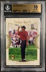 2001 Upper Deck 151 Tiger Woods Victory March Rookie Rc Bgs 10 Pristine