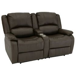 Recpro Charles 64 Rv Recliner Loveseat With Console Rv Sofa