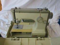 Vintage Sears Kenmore Portable Sewing Machine Model 158 10400 With Case Jb