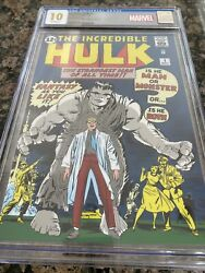 The Incredible Hulk 1 Pure Silver Foil 35g Cgc 10 First Release 1000 Minted