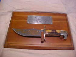 1987 Vintage Case Xx Usa India Stag Signing Of Constitution Bowie Knife And Plaque