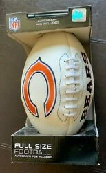 Nfl Chicago Bears White Rawlings Ball Football Official Full Size Soldier Field