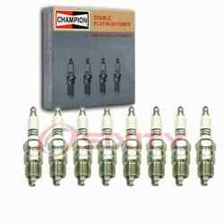 8 Pc Champion Double Platinum Spark Plugs For 1970-1977 Ford Custom 500 5.8l Df