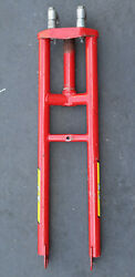 Rare Vintage Gt Bmx Bike Forks Old School Bicycle Parts Red And Yellow Gary Turner