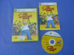 The Simpsons Game Xbox 360 Tested Working + Manual Free Tracked