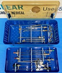 Acmi M3 30a And 70a Gold Resection Tray W/ Extras And Case Urology