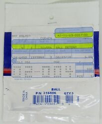 New Evinrude Johnson Genuine Parts Boat Ball Detent Pack Of 5 Part No. 316506