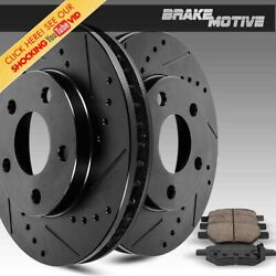 Front Brake Disc Rotors And Ceramic Pads For Toyota Sequoia Tundra 2wd 4wd 4x4