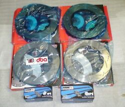 2012-21 Gtr R35 5000 T-slotted Front And Rear Disc Brakes Rotors ,hawks Hps Pads