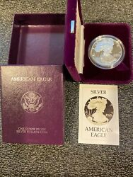 Silver Eagle 1986 Proof, Qty 5, In Original Packaging And Original Us Mint Shipp