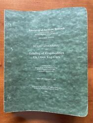 Association American Railroad Loading Commodities Open Top Cars 1960 Manual