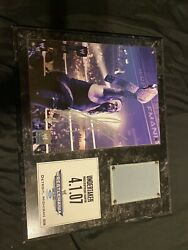 Wwe Undertaker Autograph And Ring Mat Relic Wrestlemania 23