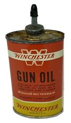 Winchester Gun Oil Handy Oiler Can Lead Spout Vintage Empty Made In Usa 3oz Can