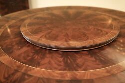 Large 44 Mahogany Lazy Susan With Reeded Edge