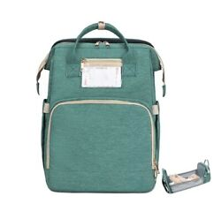 Baby Backpack Diaper Bag With Foldable Crib $24.00