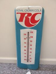 Vintage Advertising Royal Crown Cola Soda Cola Tin Thermometer Store  A-878