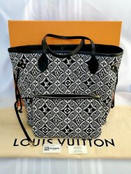 Ultra Rare Louis Vuitton Neverfull Since 1854 Black White W/ Pouch Sold Out