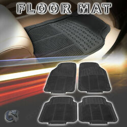 4pc Waterproof Rubber Floor Mats All Weather Front And Rear Deep Dish Liner Carpet
