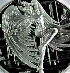 2018 Steampunk And039phoebusand039 Angelsanddemons 1 Oz .999 Sexy Silver Proof W/ Coa