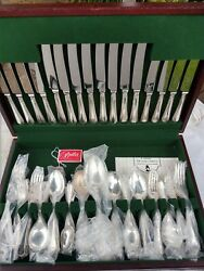 Excellent Vintage Bead 8 Place Setting Cutlery Set Sheffield Silver Plate Read