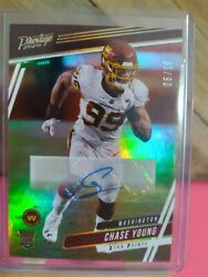 Chase Young Rc 2020 Panini Chronicles Prestige Gold Foil Rookie Autograph /10