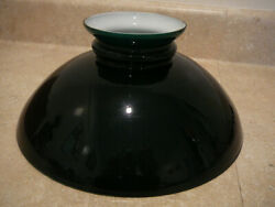 Antique Emeralite Green Cased Glass Student Lamp Shade