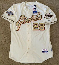 2014 Buster Posey Ws Champs Authentic Majestic Ring Ceremony Jersey Sf Giants