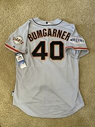 Authentic 2014 Majestic World Series Sf Giants Madison Bumgarner Jersey Mlb