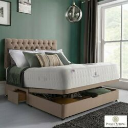 Pocket Spring Bed Company Mulberry Mattress And Fudge Ottoman Divan In 3 Sizes