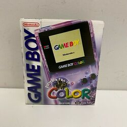 Factory Sealed Mint Nintendo Game Boy Color Handheld Console - Atomic Purple