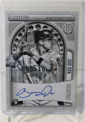 2021 Topps Gypsy Queen Bobby Dalbec Black And White Auto Autograph D /50 Red Sox