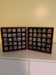 Sb Pin Collection-willabee Andward Set-sb's 1 To 50 Years -display Case/stat Cards