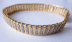 A 4 Ct 4 Roles 9ctyg Diamond Tennis Bracelet Used 7.5 Collect Yourself Free