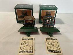 Midwest Of Cannon Falls Cast Iron Christmas Stocking Holder Caboose Cargo Car