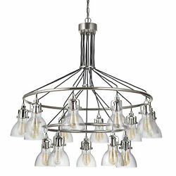 Craftmade 51215 Nickel State House 15-light 42w Ring Chandelier