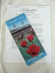 Ltd Ed 1973 Secretariat Kentucky Derby Triple Crown Program And First Issue Stamps