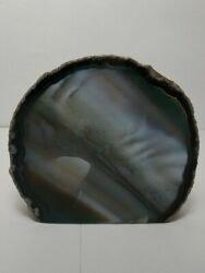 Agate Slab Polished Face 4 Inches Wide 1 Lb 2 Oz