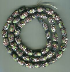 African Trade Beads Vintage Venetian Old Glass Rare Oval Millefiori Very Nice