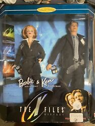1998 Barbie And Ken The X-files Giftset Collector Edition Dana Scully And Fox Mulder