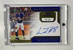 2019 Plates And Patches Lamar Jackson Auto Signal-callers /50 Baltimore Ravens