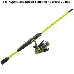 Fishing Pole Lewandrsquos Hypersonic 6andprime 6 Speed Spinning Rod Reel Combo Ambidextrous