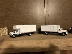 Dcp Two Custom Moving Truck Gmc Moving Truck And International Delivery Truck 1/64