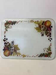 Vintage Clair Kitcher Glass Chopping Board Worktop Protector C1990s Collectible