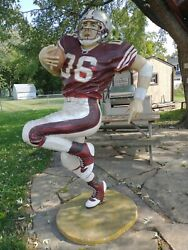 American Nfl College Football Player Life Size Movie Prop Decor Statue - 6' 5
