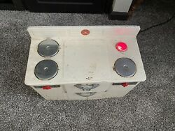 Vintage Little Lady Metal Stove/sink/oven White Metal Toy